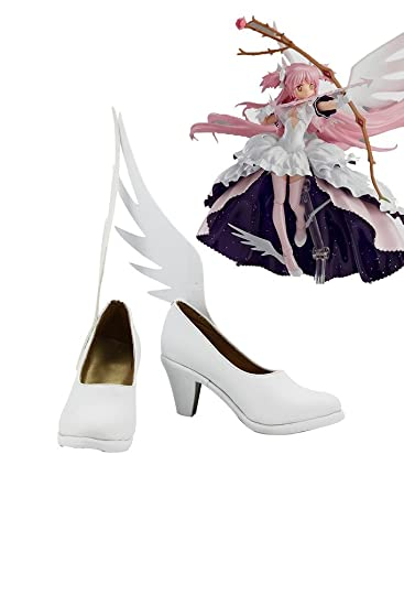Puella Magi Madoka Magica Madoka Kaname Figure-Version Cosplay Shoes Boots Custom Made White